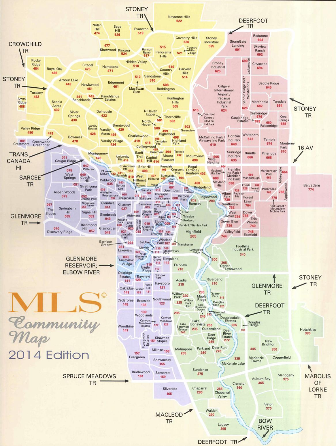 Mls Calgary Map Calgary MLS Map